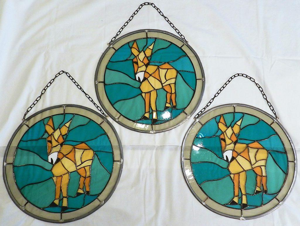 Medaillon glas-in-lood / Tiffany