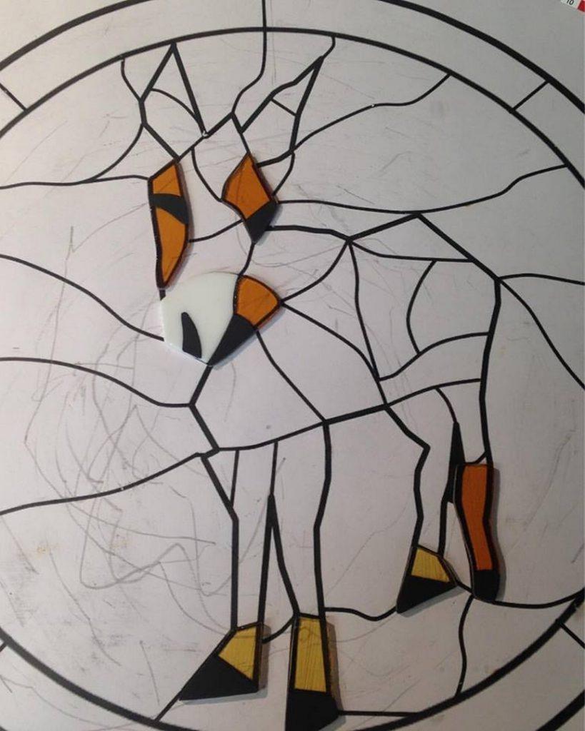 Creatie glas-in-lood / Tiffany