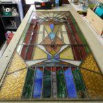 Reparatie loodglas deur